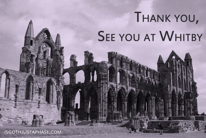Thank you for taking the survey - if you are coming to Whitby and you are interested in taking part in the project, let me know, it would be great to talk in person.